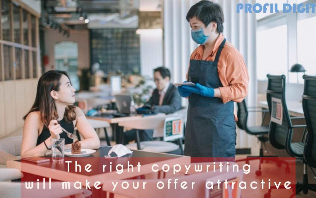 The right copywriting will make your offer attractive